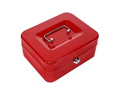 Kippen 10033R1 Cassetta Portavalori, Rosso, 150 x 120 x 80 mm