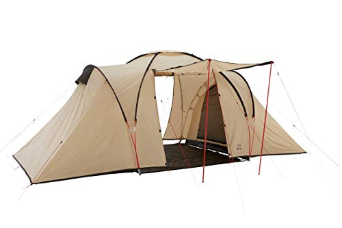 Grand Canyon Atlanta 4 - Kuppelzelt für 4 Personen | Zelt, Familienzelt mit Zwei Schlafbereichen | Mojave Desert (Beige)