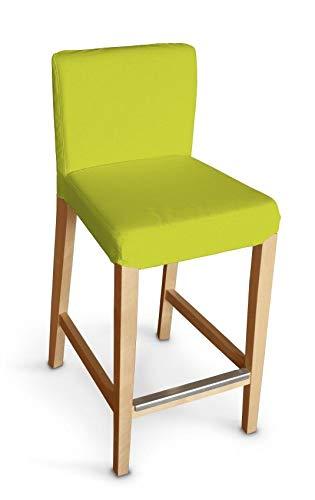 Dekoria Henriksdal Husse für Barhocker Husse Stuhlbezug,Stuhlkissen passend für IKEA Modell Henriksdal Limone
