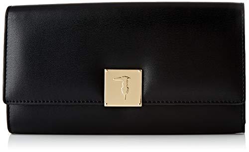 Trussardi Jeans Continenta, LIONE Continental Wallet LG EC Donna, Black, NR