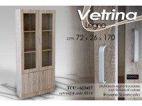 Gicos VETRINA Moderna in Legno Rovere 4 Ante 72X26X170