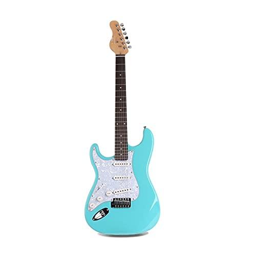 YUTRD ZCJUX Nueva Guitarra eléctrica 22 Platos Principiante Luz Brillante Tilo Single...