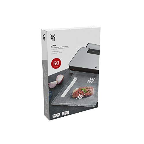 WMF Lono Vakuumbeutel für Vakuumiergerät, 50 Stück, 20 x 30 cm, 4 lagige Folie, strukturierte / glatte Seite, bpa-frei, transparent