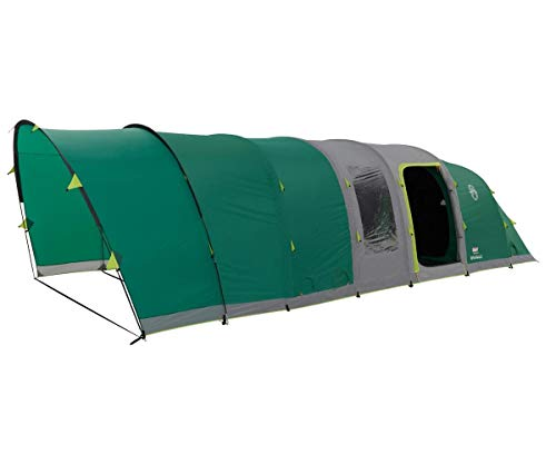Coleman Inflatable Tent 6 Man Valdes 6 L, Camping Tunnel Tent with Air Poles, Air Tent Six Man, Family Blow Up Tent with BlackOut Bedroom Technology, 100% Waterproof with Sewn in Groundsheet