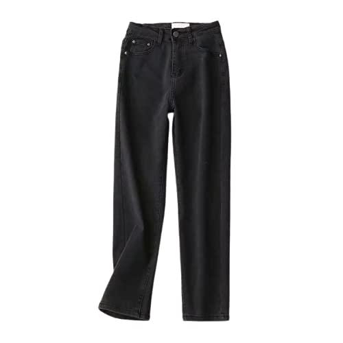 Qinvern Pantalones Vaqueros de Mujer Streetwear Pantalones Rectos clásicos Pantalones de Mezclilla Lavados...
