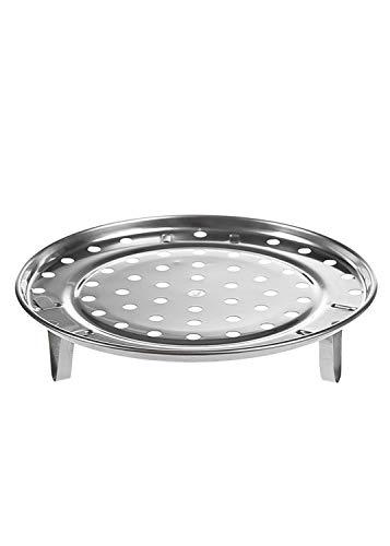 KUYG Multifunktion Verdicken Topflappen Dämpfkorb Runden Edelstahl-Dampfgarer mit Abnehmbar Beine zum Kochen in der Küche