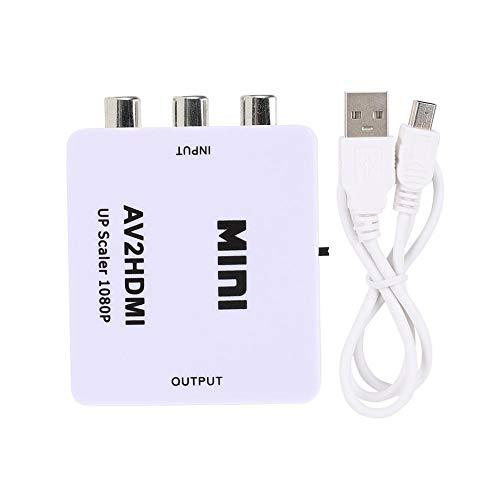 Mugast AV - zu - HDMI - Adapter, 1080P USB - betriebener AV - zu - HDMI - HD - Videokonverter für eine Vielzahl von DVDs/VCDs, Spielekonsolen usw(Weiß)
