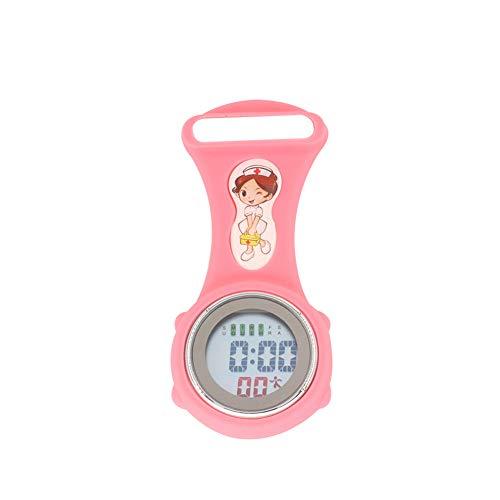 YUnnuopromi - Reloj de Bolsillo con Calendario de Enfermera, Luminoso, Digital, diseño de médico, Color Rosa