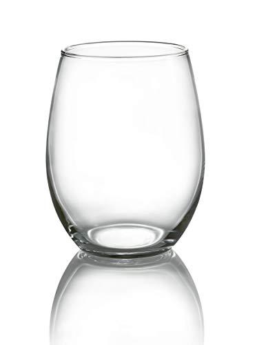 Luminarc N7338 Lumincar Cachet - Juego de 4 copas de vino sin tallo, cristal transparente