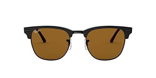 Ray-Ban Clubmaster Gafas, Negro, 49 mm Unisex Adulto