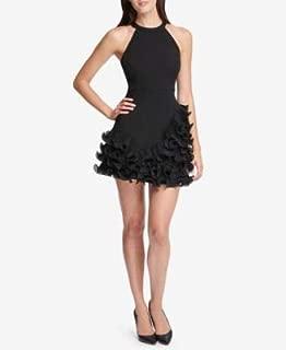 GUESS Womens Black Ruffled Halter Mini Party Dress US Size: 0