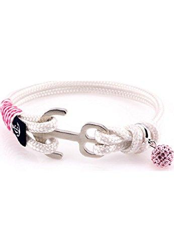Constantin Nautics Damen-Armband Kunststoff/Edelstahl 17 Weiß 32005304