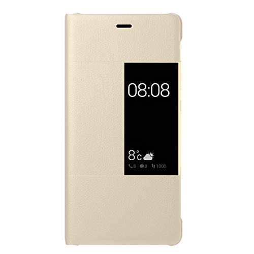 14chvily Kompatibel Für Huawei P9 Hülle, Huawei P9 Plus Leder PU Handyhülle 360-Grad-Schutz Shockproof Handytasche Kredit Kartenfächer Geldklammer (Gold, P9 Plus)