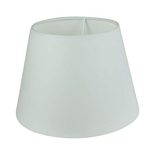 Wogati Premium Lampenschirm 25 cm x 16,5 cm x 18 cm/Tisch- u.Stehleuchte/Weiß/Stoff / E27 /E14 /Groß