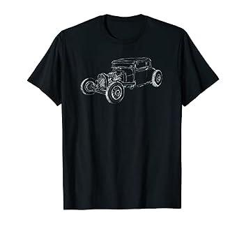 Hot Rod Shirt Classic Coupe Outline Rust bucket Rat Race T-Shirt