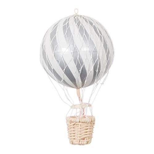 filib Abba 10cm globo de aire caliente ciruela–Un Globo de aire caliente de papel maché y madera para la decoración la habitación del bebé