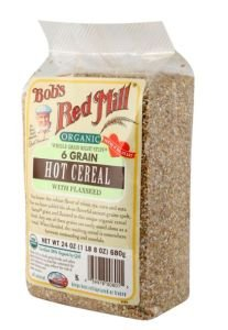 Bob's Red Mill Organic 6 Grain Hot Cereal With Flaxseed, 24 Oz