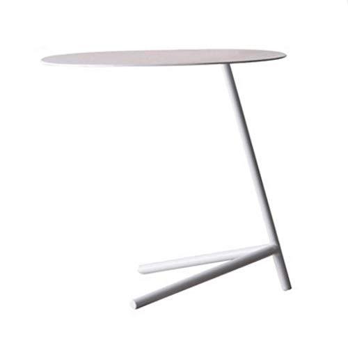Table d'appoint Table Ronde Petite Table Basse Portable Etagère Multifonctions Etabli Salon Table de Chevet Terrasse (Color : White)