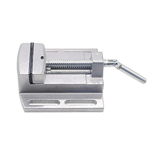 JEZZ Mini banco de trabajo multifuncional Soporte para máquina de taladrado y fresado de 2,5 pulgadas Máquina de perforación de tornillo de banco de mandíbula paralela Ajuste del banco de trabajo de t
