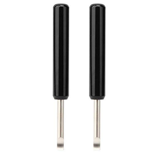 2PCs Kit di strumenti per la riparazione dell'orologio Attrezzatura di ricambio per cinturino Strumento di rimozione della batteria Attrezzo manuale per leva d'argento nero