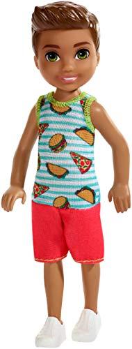 Mattel i Suoi Amici Barbie Chelsea-Muñeco moreno con camiseta de comida, juguetes...