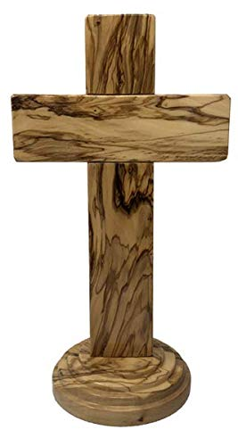 Holy Land 12' Genuine Olive Wood Standing Cross