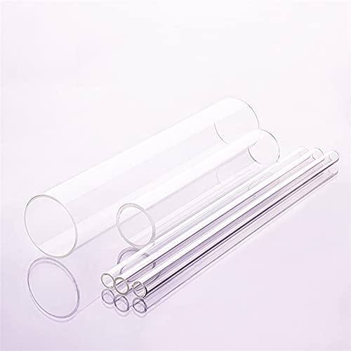 E E-NICES Lab Tools Tubo de Vidrio de Alta borosilicato, O.D.60mm, thk.2mm / 2.8mm, l.80mm / 450mm / 500mm / 600mm, Tubo de Vidrio Resistente a Alta Temperatura (Capacity : O.D.60x2.8x600mm)