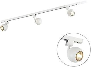 Qazqa Plafonnier | Lampe au plafond Moderne - Gissi Lampe Blanc - GU10 - Convient pour LED - 3 x 50 Watt