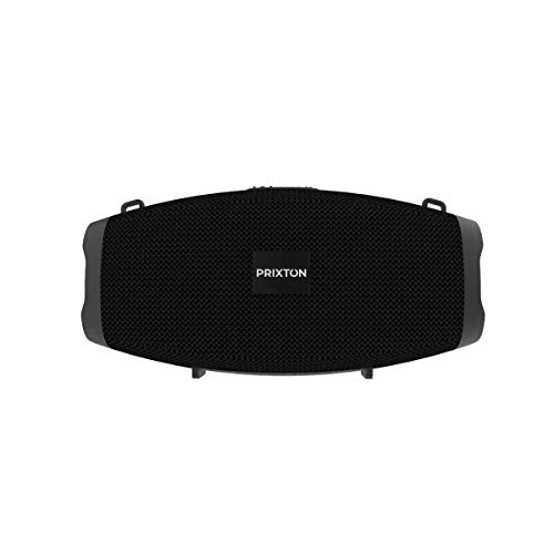 PRIXTON Zeppelin W150 - Altavoz Portátil con Bluetooth, Ranura para USB y Micrófono Integrado para Función Manos Libres, Potencia de 10W, Color Negro
