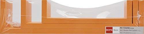 Duraline Gioco 3 Mensola U, Legno, Arancione, 42 x 10 x 10 cm