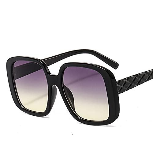 ShSnnwrl Único Gafas de Sol Sunglasses Gafas De Sol Cuadradas De Gran Tamaño para Mujer Gafas Cuadradas para Mujer/Hombre Gafas