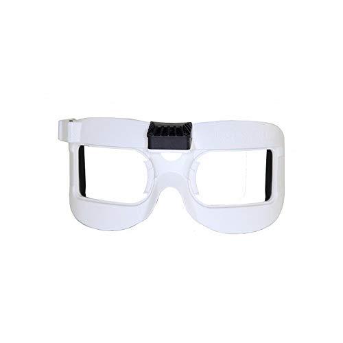 HELEISH Fatshark White Faceplate V2 con ventilador equipado for Dominator V2 V3 HD HD2 HD3 Gafas FPV Piezas de montaje de bricolaje