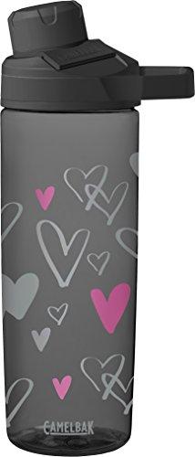 Garrafa de água Chute Mag, corações desenhados, 0,6 L