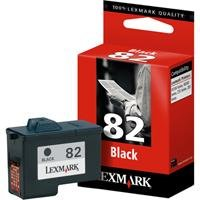 Lexmark Schwarze Patrone Nr.82 Tinte schwarz 600S Z55 / Z65, X5150 / X5190pro / X6150 / X6170 / X6190pro / X5130
