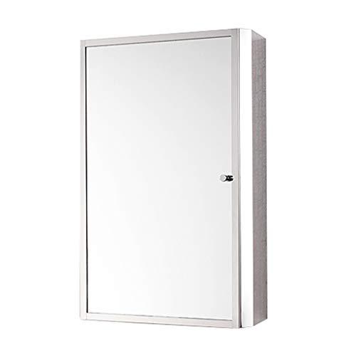 Armoire De Toilette Chambre À Coucher Avec Casier À Miroir En Acier Inoxydable Armoire De Toilette Armoire De Toilette Murale (Color : Silver, Size : R:35 * 13 * 50cm)