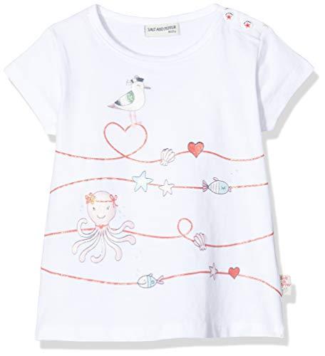 Salt & Pepper Baby-Mädchen 03212206 T-Shirt, Weiß (White 010), (Herstellergröße: 74)