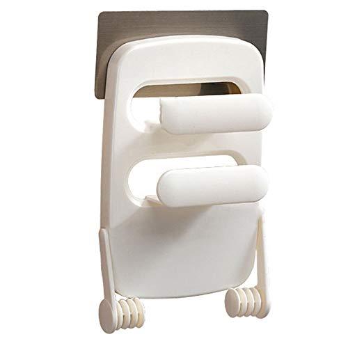 Kitchen shelf Estante de Cocina refrigerador retráctil Estante de Pared sin uñas Papel de Aluminio Toalla de Papel Film Transparente Estante de Almacenamiento