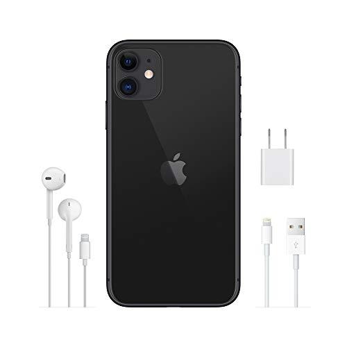 Apple iPhone 11 (128GB) - Schwarz (inklusive EarPods, Power Adapter)