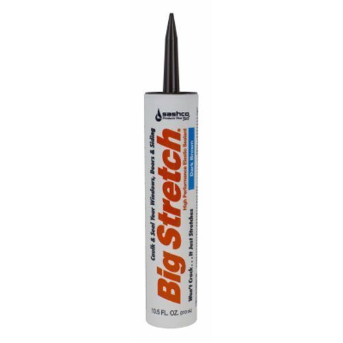 Sashco Inc 10008 6 Pack 10.5 oz. Big Stretch Acrylic Latex High Performance Caulking Sealant, Dark Brown