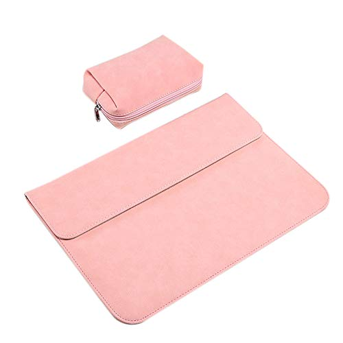 Senmubery Laptop Protective Sleeve, Ultra-Thin Frosted Portable Laptop Protective Sleeve Inner Bag with Power Pack For Pink
