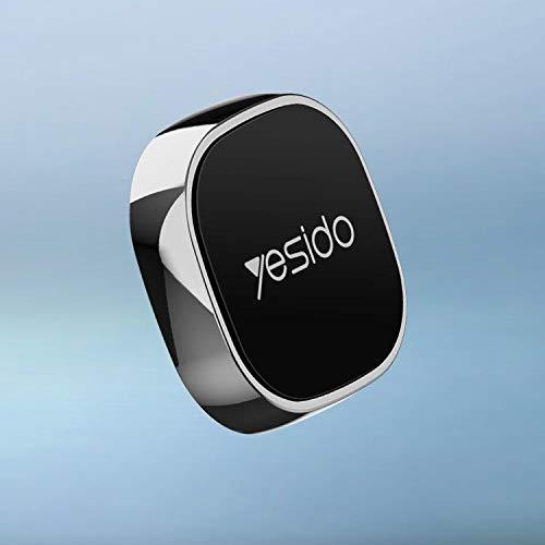 YESIDO Handyhalter Fürs Auto, Super Mini, klein und praktisch Magnet Schlüsselhalter zum kleben, Handyhalterung + 2 Magnetplatten fürs Handy magnetisch für alle Handys Kleber wiederverwendbar (Grau)