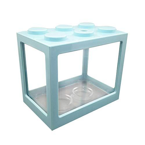 YETE Kreative Mehrfarbige stapelbare Bausteine ökologische Aquarium-Fischkäfige für Spinnen/Ameise/Fische/kleine Mini-Reptilien, Schreibtisch Dekoration