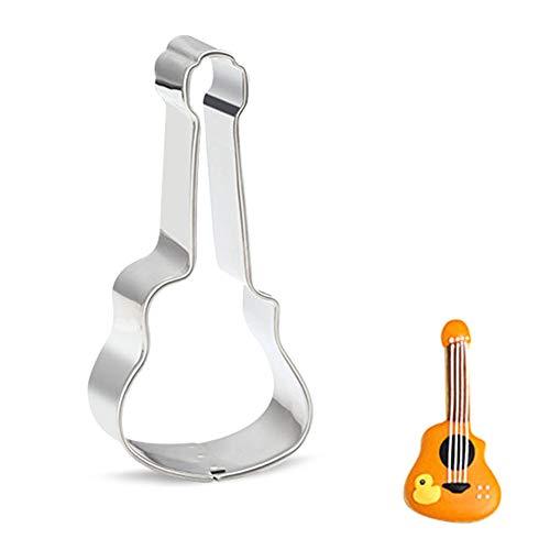 Moule Cookie en acier inoxydable avec guitare violon forme Piano Modèle bricolage cuisson Accessoires décoration de gâteau 1 Pc