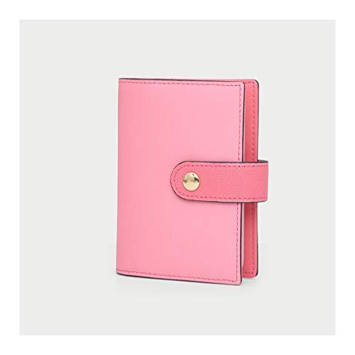 Caja del titular de la tarjeta Multifunción de cuero del caso titular de la tarjeta de débito del crédito compacto con fundas de plástico, los titulares de la tarjeta de crédito for la Mujer caso de l