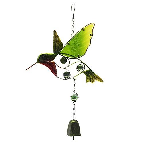 Campanillas de viento para puerta o decoración del hogar y manualidades con colgante de cristal colibrí para regalo de vida om adorno colgante para ventana al aire libre jardín interior patio