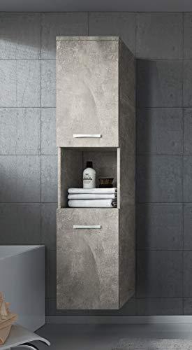 Badplaats B.V. Badezimmer Schrank Montreal 131 cm – Regel Schrank Hochschrank Schrank Möbel 2