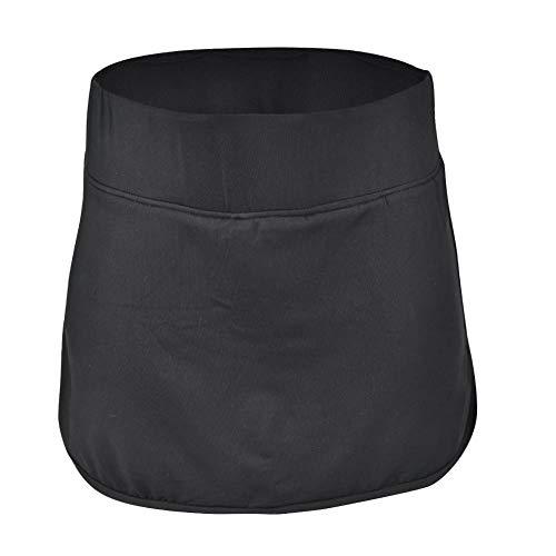 Qiilu dames sportbroek, zwarte fitness sport rok met korte broek en zak voor hardlopen(XXL)