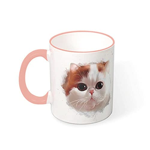 COMBON Shop Taza de café con tinta de cara de gato taza con mango suave cerámica divertida tazas - Halloween vcbe 330ml