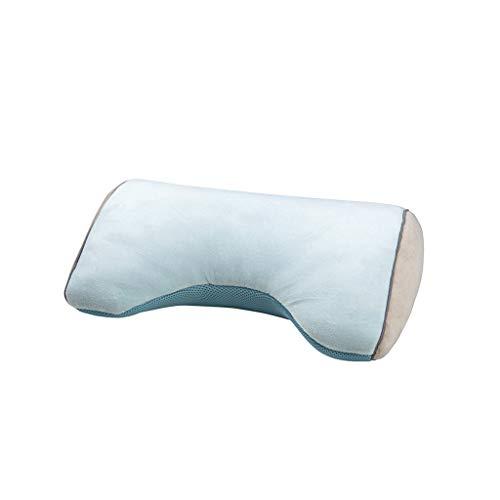 ZIJUAN Taille Kissen Kissen-ergonomische Schmerzlinderung Kopfstützkissen Haltung Therapie Kopfstütze Für Zuhause, Büro, Auto, Reise (Farbe : Blau)