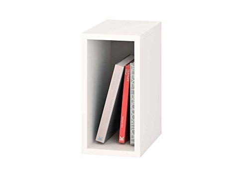Samblo, Mizu Slim, Mensola, Bianco (Bianco/Grigio), 40 x 20 x 33 cm